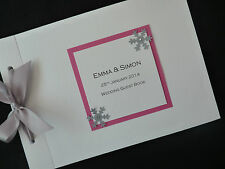 Personalised Wedding Guest Signing Book - Snowflake Winter Christmas Wedding