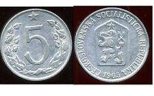 TCHECOSLOVAQUIE  5 haleru 1963 ( bis )