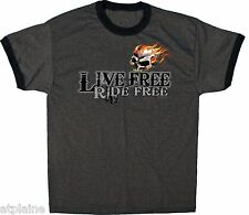 T-Shirt MC LIVE FREE SKULL - Taille XXL - Style BIKER HARLEY