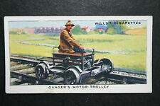 Pre Nationalisation Ganger's Motor Trolley  Original 1930's Vintage Card  VGC