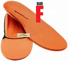 Superfeet ORANGE Insoles Inserts Orthotic Arch Support MEN Shoe Size 11.5 -13 #F