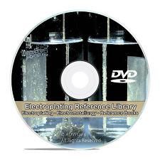 Electroplating Electrometallurgy Metal Plating Electrolysis Guides Books CD V73
