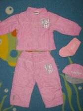 Fubu Outfit Sport 05 4pc Set Baby Infant Girls Sz 12 Mos Pink Quilted NWOT