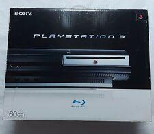 Sony PlayStation 3 PS3 60 Go Noir Piano en arrière compatible console PAL Boxed