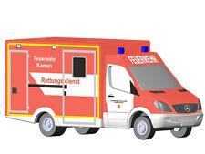 Rietze 16185 - Mercedes WAS Ambulanz RTW FW Kamen - Spur N - NEU