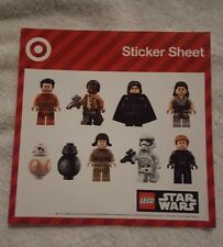 New: One Sheet of 9 Lego Star Wars Mini-figs Stickers, 2017 Target, Excellent!!