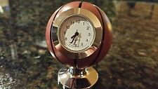 Collectable Miniature Brown and Silver Basketball Quartz Desk Clock