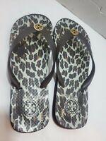 TORY BURCH Metal Logo Flip Flop Thong Sandals Size 11 -