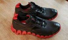Reebok Zig Pulse Shoes Men's Athletic Running Sneaker Black Red Sz 13 Eu 47