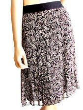 Women's Skirts Pleated Skirts Silk Knee Length Designer Nine West Skirts  8.R