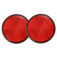 2pcs Round Red Reflector Universal For Motorcycle ATV 5.6*0.8cm Y3V5