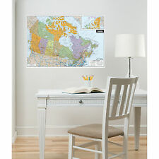 Wall Pops Canada Map DRY ERASE Peel and Stick Wall Decal