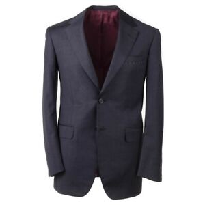NWT $3295 OXXFORD 1220 Regular-Fit Solid Dark Gray Super 120s Wool Suit 38 R
