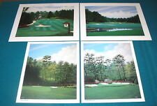 "Lot of 4 Signed : GEORGE GRIFF ""Golf Prints"" AUGUSTA Amen 11 & 13 Pinhurst #2"