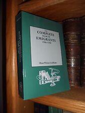 Complete Book of Emigrants 1700-1750 Genealogy New Book