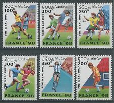 LAOS N°1281/1286** Coupe du monde de Football France 1998, 1997, Soccer Set MNH