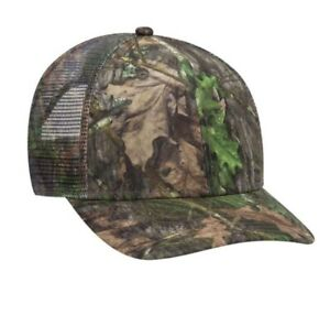 OTTO CAP MOSSY OAK OBSESSION COUNTRY CAMOUFLAGE 6 PANEL TRUCKER LOW PROFILE