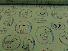 """Tela Para Niños """"Animales de todo tipo """"Jersey 145 cm de ancho Mezcla De Algodón"""