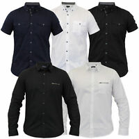 Mens Shirts Brave Soul Smith & Jones Cotton Long Short Sleeved Collared New