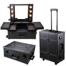 Studio Cosmetic Makeup Show Barber Travel Rolling Case Light Trolley INCD VAT