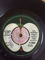 """THE BEATLES PAUL MCCARTNEY OH WOMAN O WHY/ANOTHER DAY """"RARE"""" SINGLE 45 INDIA VG+"""