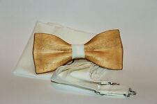 La cravate des hommes en bois arc avec carré de poche. Nouvelle tendance 2016...