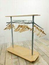 FREESTANDING CLOTHES RAIL RACK RETAIL FASHION DISPLAY STAND FULLY ASSEMBLED !!!