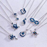 Charm Women Animals Infinity Enamel Pendants Necklace Jewlery Family Gift New