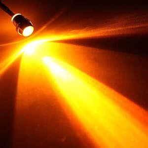 3 Stück LED orange mit Fassung anschlußfertig für 12V 5mm mit Vorwiderstand NEU