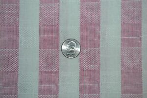 """Cotton apparel or home decor fabric red & white stripes, 58"""" x 2.7 yards"""