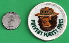 "US Forest Service NEW 2"" 1969 Prevent Forest Fires Smokey Bear Cloth Patch"