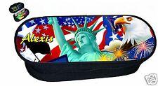 trousse ecole a crayons ECOLIER  REF 149 USA NEW YORK personnalisée avec prénom