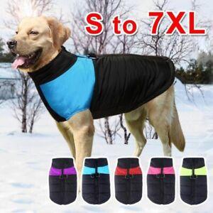 Large Dog Jacket Winter Warm Vest Waterproof Dog Coat