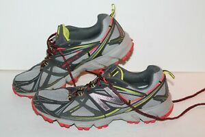 New Balance 610 Trail Running Shoes, #WT610BB#,Gray/Red/Lime, Women's US Size 11