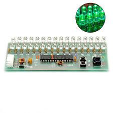 Dual Channel MCU Adjustable Display Pattern LED VU Meter Level Indicator 16 LED
