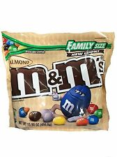 NEW SEALED ALMOND M&M'S MILK CHOCOLATE CANDIES FAMILY SIZE 15.90 OZ BAG MARS
