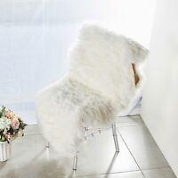 WHITE 6 ft FAUX FUR Throw Sheepskin RUG Chair Drape Home Decorations Supplies