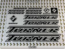 TURNER Stickers Decals Bicycles Bikes Cycles Frames Forks Mountain MTB BMX 58X