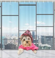 Yorkie Yorkshire Terrier Pet Fabric SHOWER CURTAIN City Dog Puppy Bathroom Decor