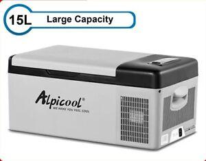 Portable  Car Refrigerator Freezer Cooler 15L Auto Fridge Compressor Quick Refri