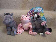 Webkinz- WITH CODES!!!! Rockerz Raccoon, Love Frog, Grey Arabian