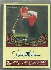 2011 Upper Deck Goodwin Champions Hunter Mahan Autographed Card On Card!