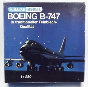 Schabak Modell Pan Am Boeing 747 Vintage Tinplate Model Airplane Made in Germany