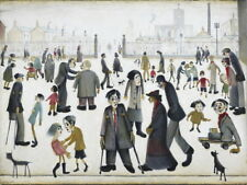 L.S. Lowry The Cripples Giclee Canvas Print Paintings Poster LARGE SIZE