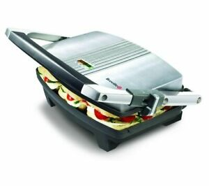 BREVILLE VST025 Cafe-Style Sandwich Press - Brushed Stainless Steel - Currys