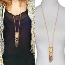 Retro Women Tassel Sweater Long Chain Pendant Gold Plated Necklace Jewelry Gift