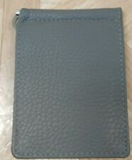 New Men's Genuine Leather Bifold ID Credit Card Money Holder Wallet Gray