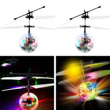 Child Kids Flying RC Ball Led Flashing Light Ball Aircraft Helicopter Gift Toy