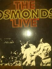 THE OSMONDS LIVE- ROCK-33 RPM- 1972- 2 RECORD SET-