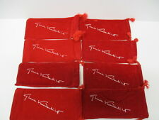 8 Gloria Vanderbilt Eye Glass Pouches, Red in Color